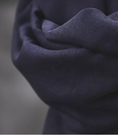 Tissu smooth dape twill  - Blueberry