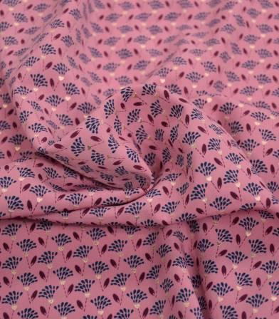 Tissu polyester - plumeau - Pink