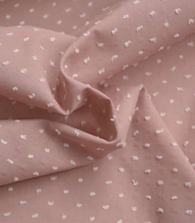 Tissu plumetis bicolore - Dusty pink