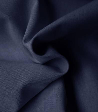 Tissu chambray poly coton- Navy