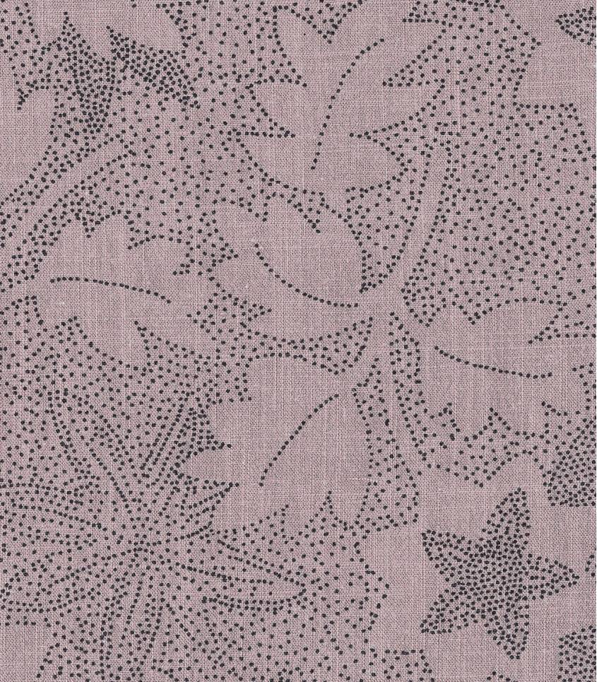 Tissu lin viscose - Flowers - Pink Sand