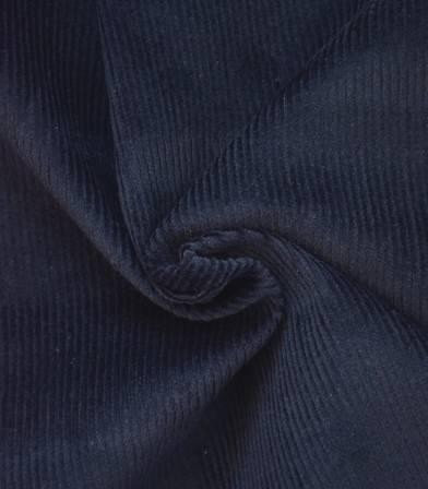 Tissu velours côtelé - Bleu marine