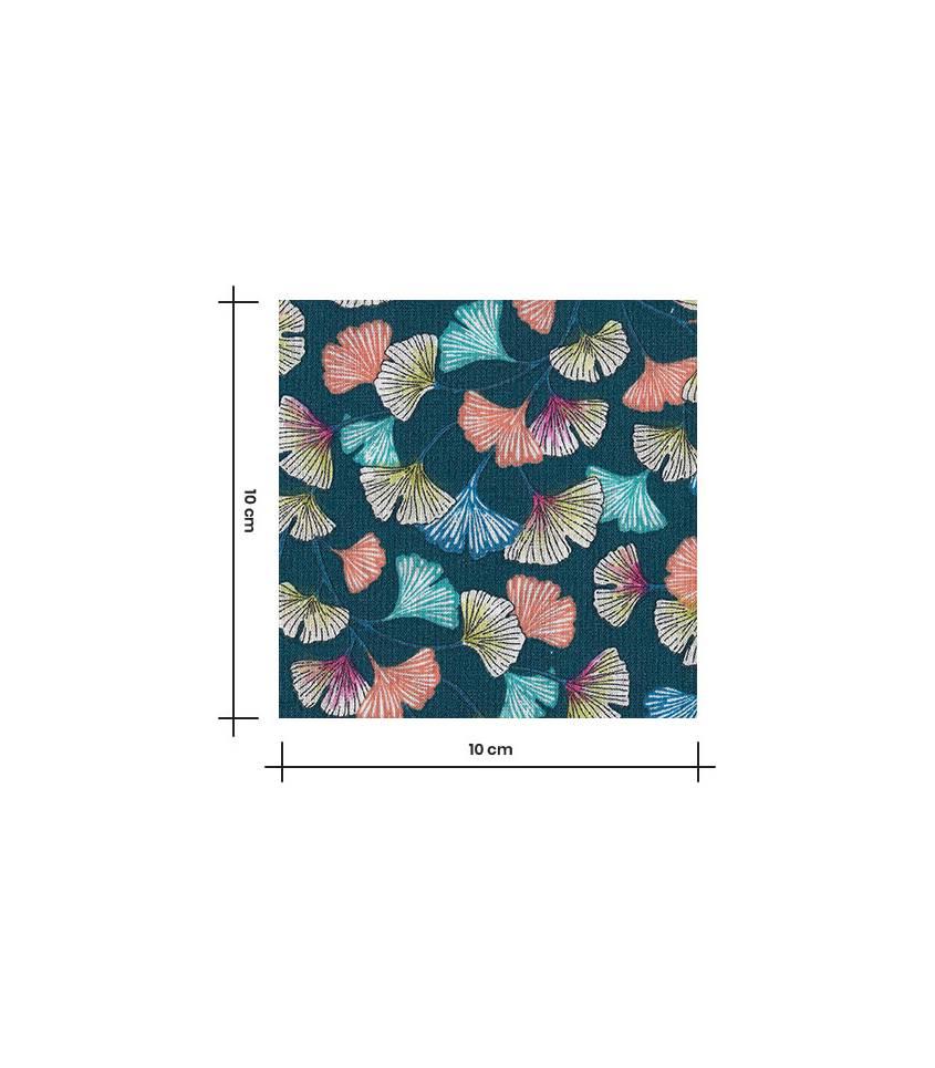 Tissu coton - Aphrodite Emeraude