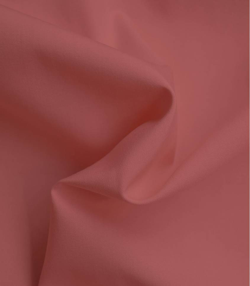 Tissu popeline fine de coton bio - Burned orange