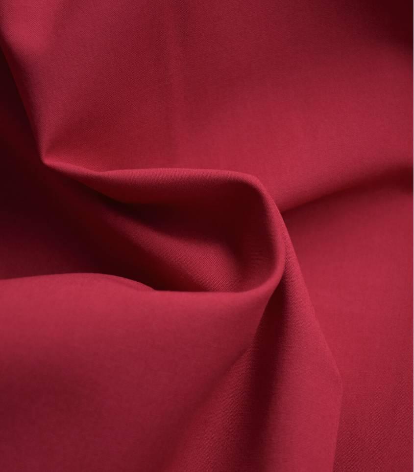 Tissu popeline fine de coton bio - Brick