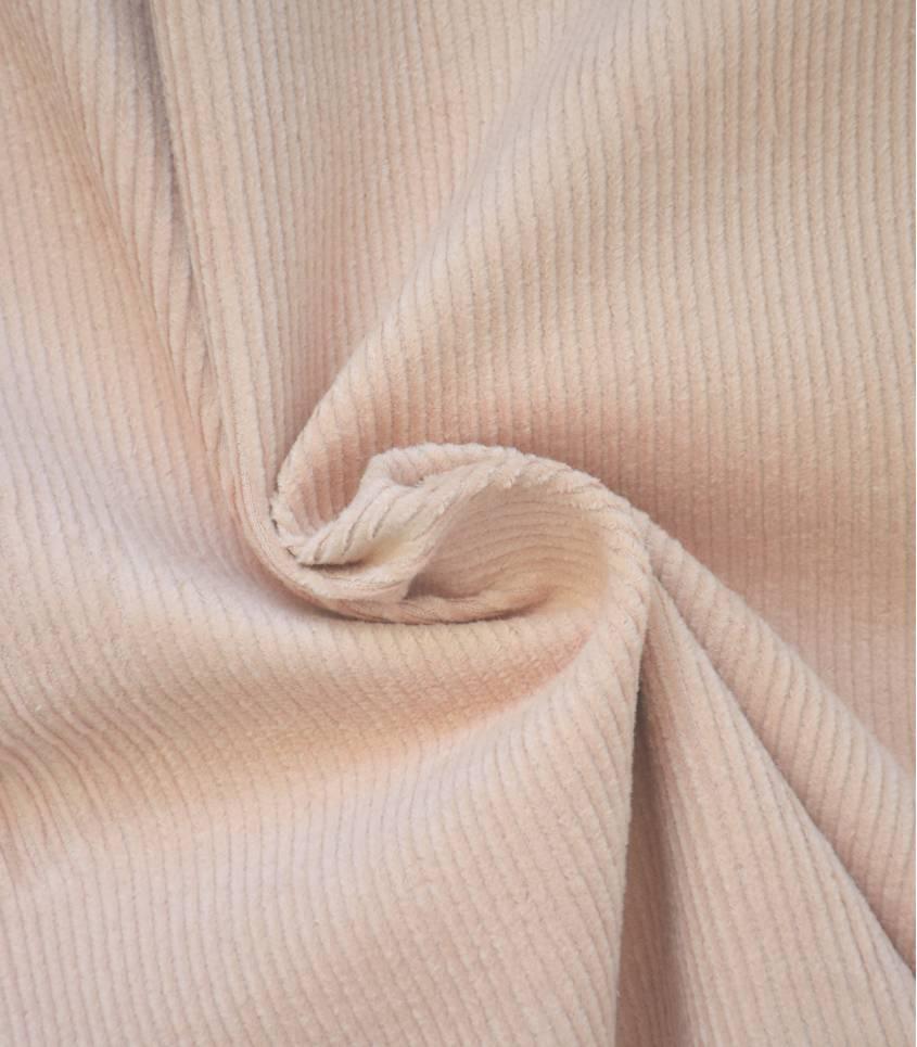 Tissu velours côtelé - Rose nude