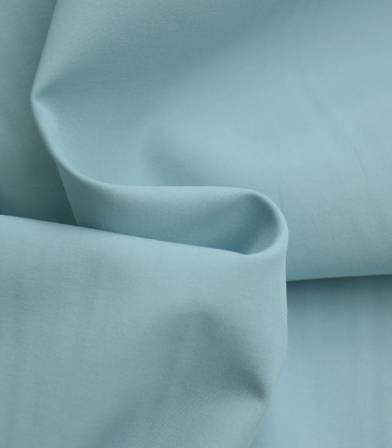 Tissu popeline fine de coton bio - Goa blue
