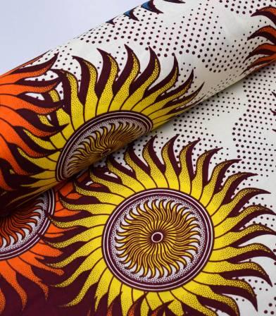 Tissu wax - Sun