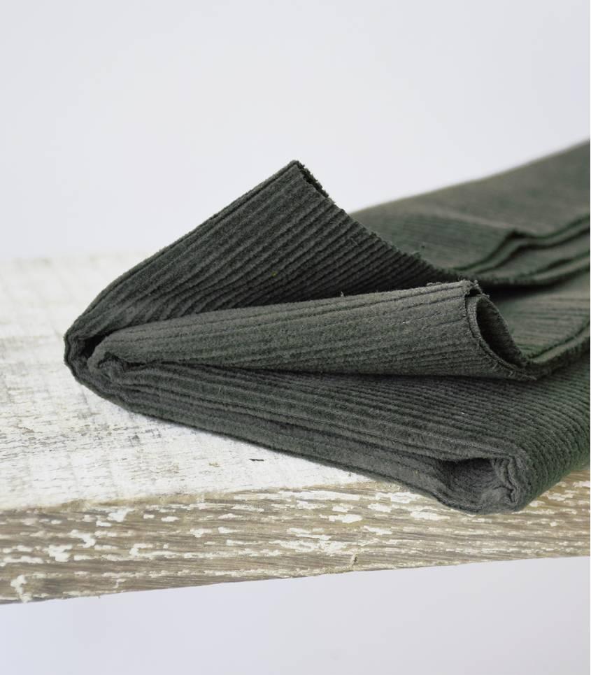 Tissu velours côtelé - Vert lichen