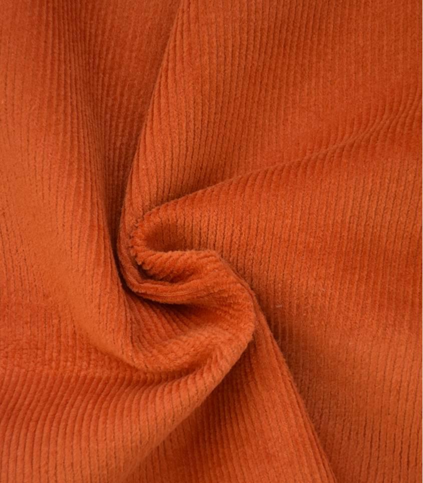 Tissu velours côtelé - Potiron