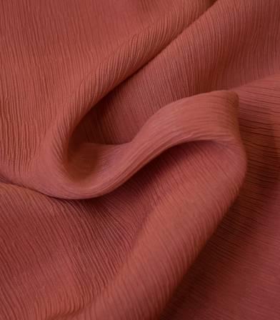 Tissu viscose Crinkle - Brique