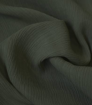 Tissu viscose Crinkle - Kaki