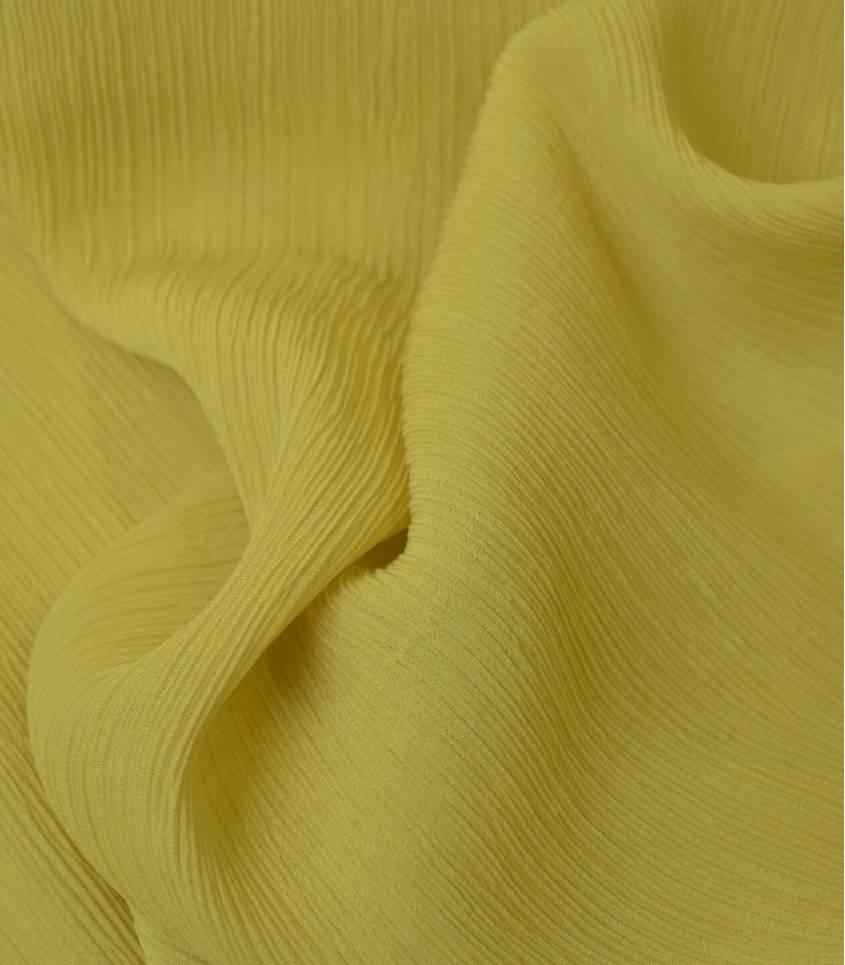 Tissu viscose Crinkle - Jaune