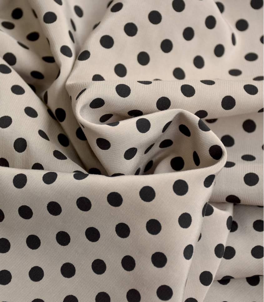 Tissu viscose cupro - Alice crema