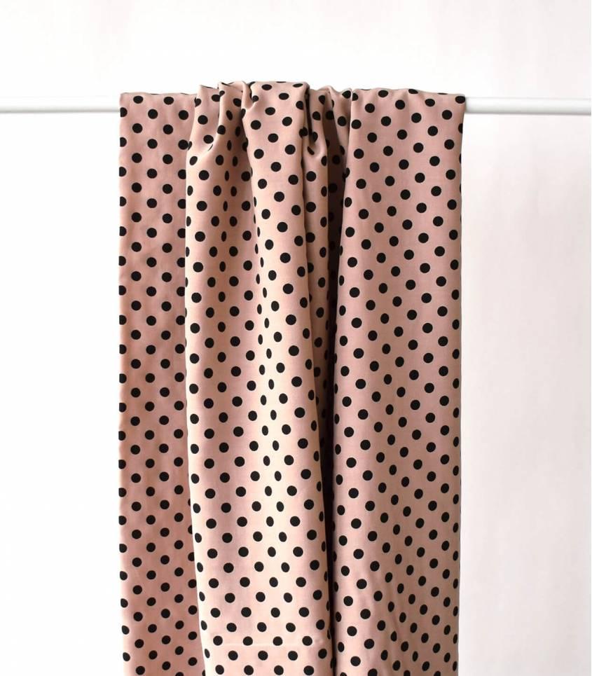 Tissu viscose cupro - Alice rosa