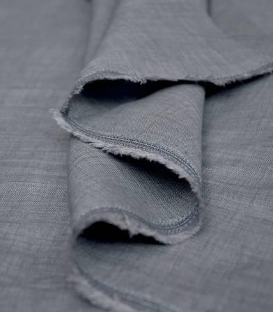 Chambray de lin - gris