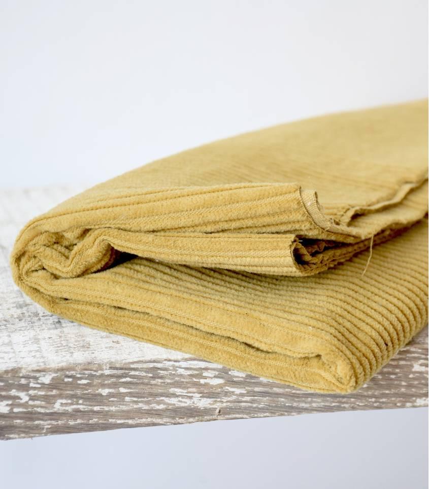 Tissu velours grosses - Ocre jaune