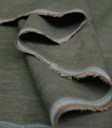 Chambray de lin - bronze