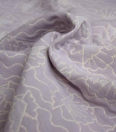 Tissu jacquard Seashell - Lilas