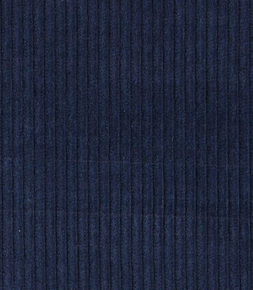Tissu velours grosses côtes bleu nuit