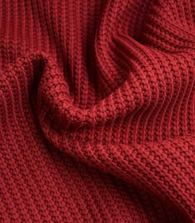Tissu Jersey maille - Carmin