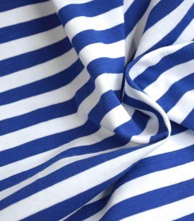 Tissu jersey stripe - Cobalt