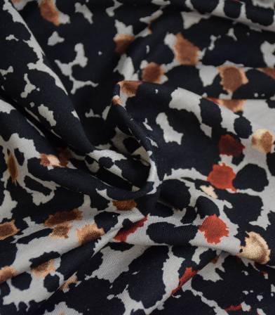 Tissu jersey viscose - Black Tasks
