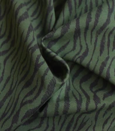 Tissu jersey Zèbre - Kaki