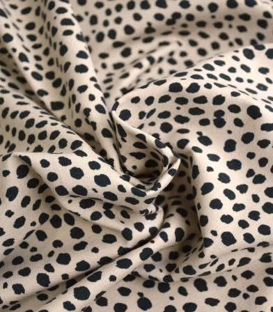 Tissu jersey Tigre - Beige