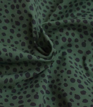 Tissu jersey Tigre - Kaki
