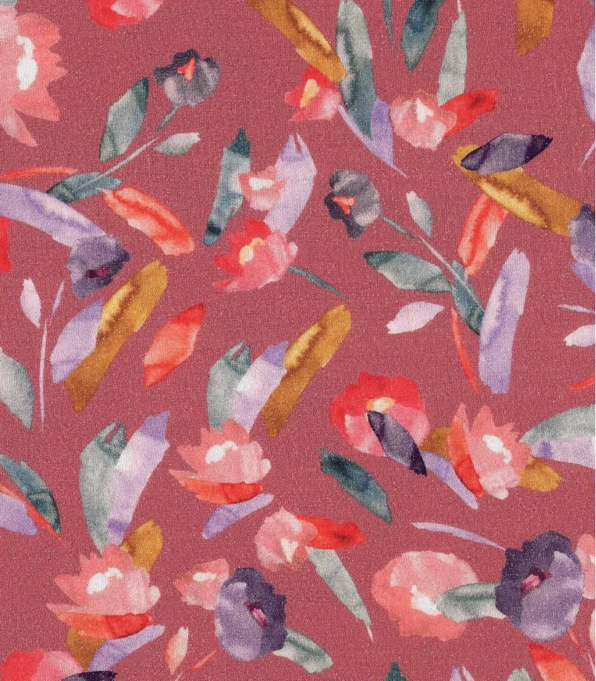 Tissu jersey viscose - Watercolor blush