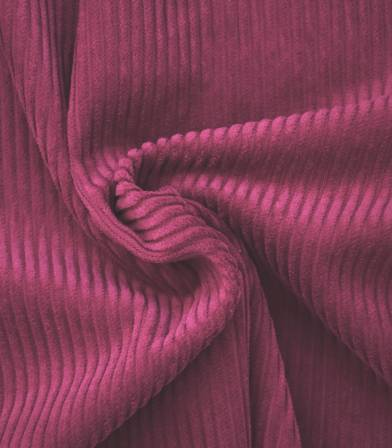 Tissu velours grosses côtes - Rose framboise