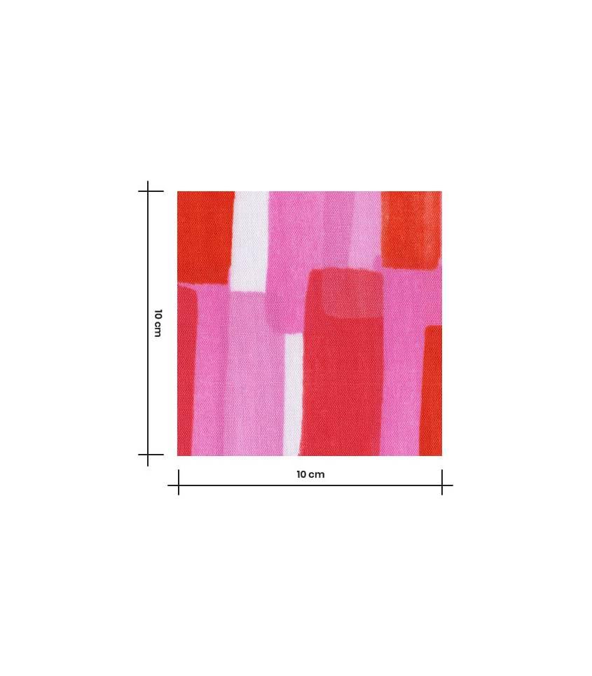 Tissu japonais Nani Iro - Rose rouge