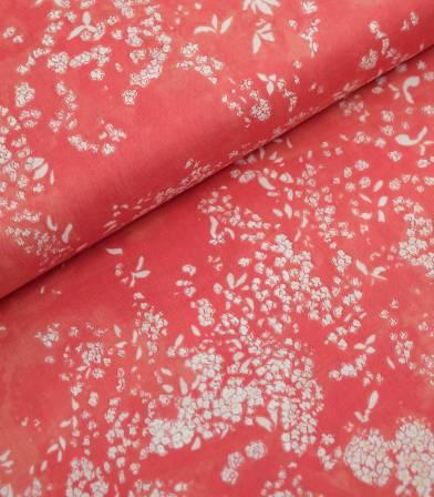 Tissu japonais Nani Iro - Lei nani - rouge