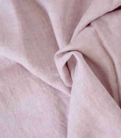 Chambray de lin vx rose