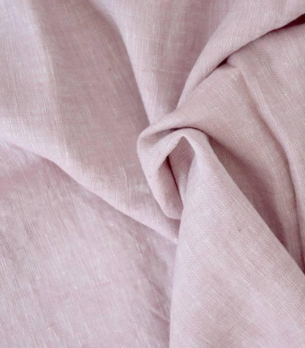 Chambray de lin vx rose