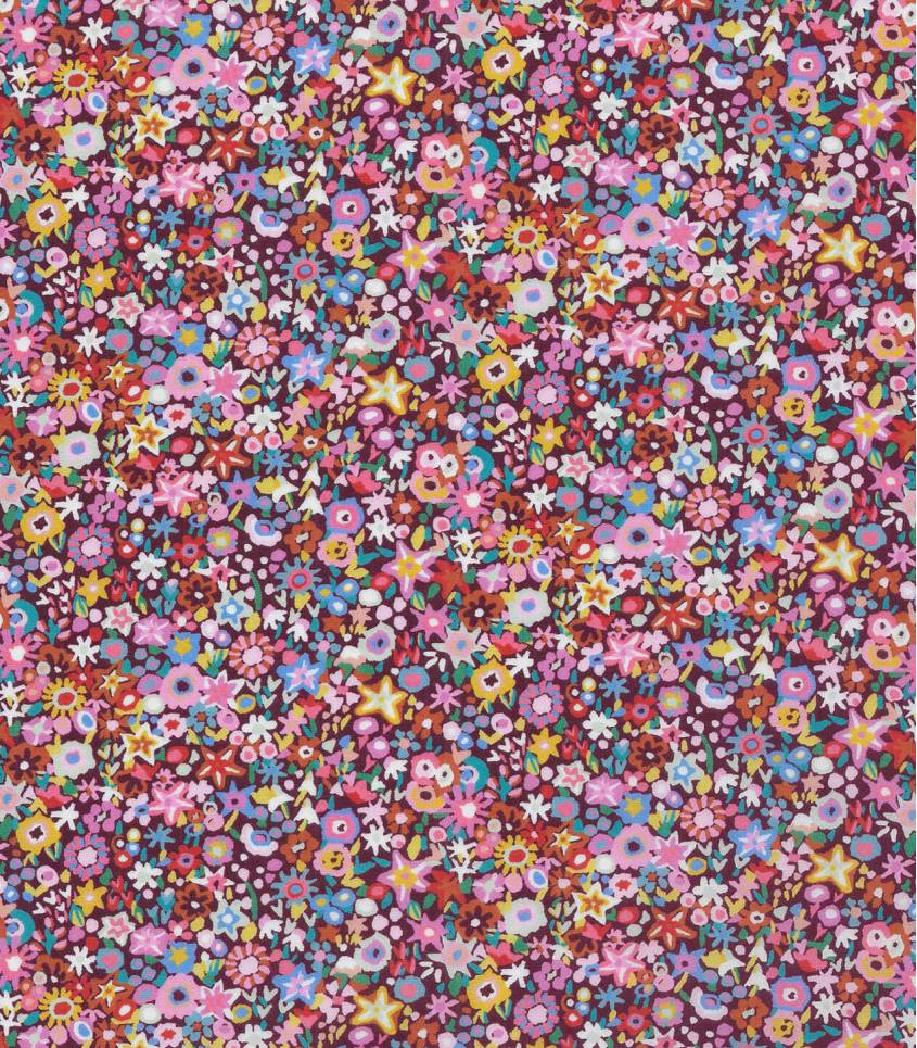 Tissu Liberty Dazzle - prune