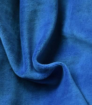 Tissu Jersey velours - Cobalt