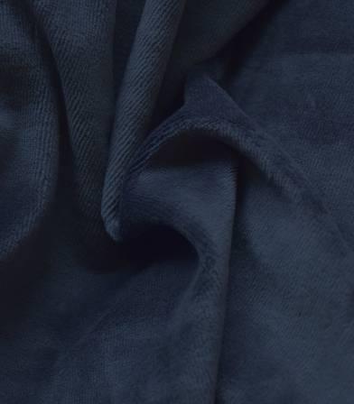 Tissu Jersey velours - Marine