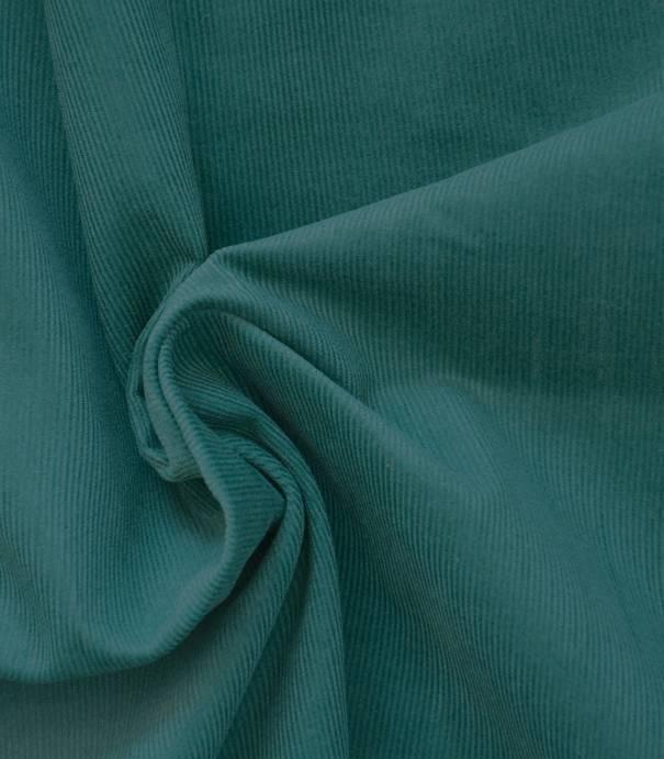Tissu velours milleraies fin colvert