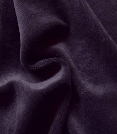 Tissu Jersey velours - Violine
