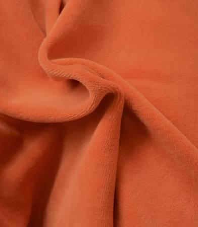 Tissu Jersey velours - Orange