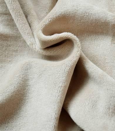Tissu Jersey velours - Beige
