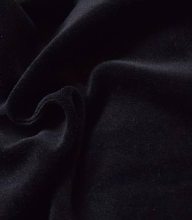 Tissu Jersey velours - Noir