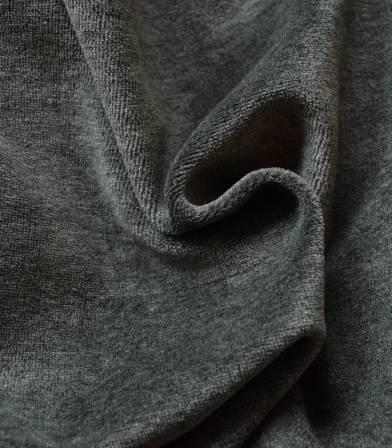 Tissu Jersey velours - Gris foncé