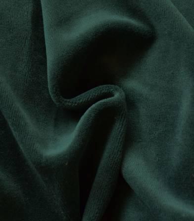 Tissu Jersey velours - Vert foncé