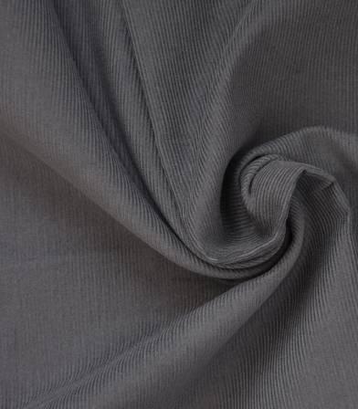 Tissu velours milleraies fin gris minéral