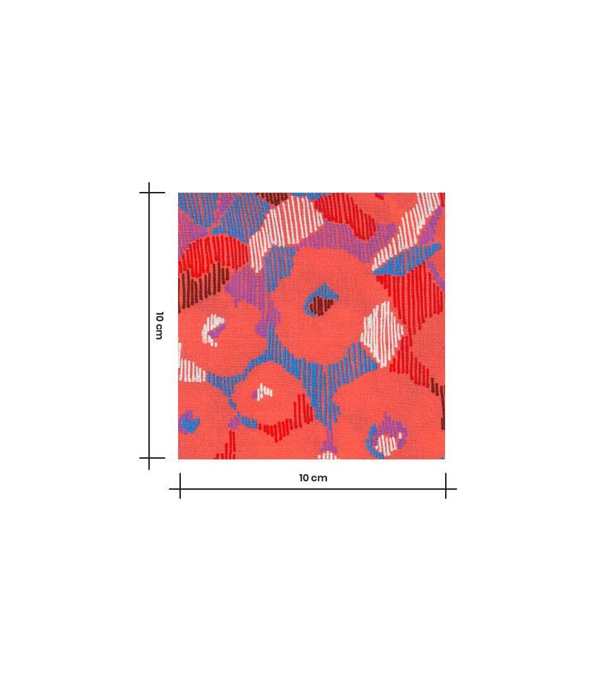 Tissu viscose Samantha - corail