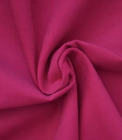 Tissu velours milleraies fin  rose fuschia