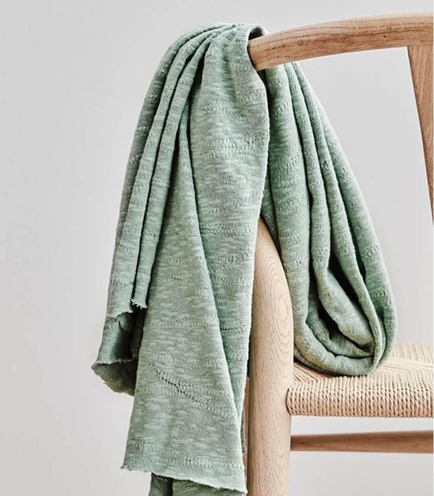 Tissu Jersey Bio - Jacquard Slub - Sage green